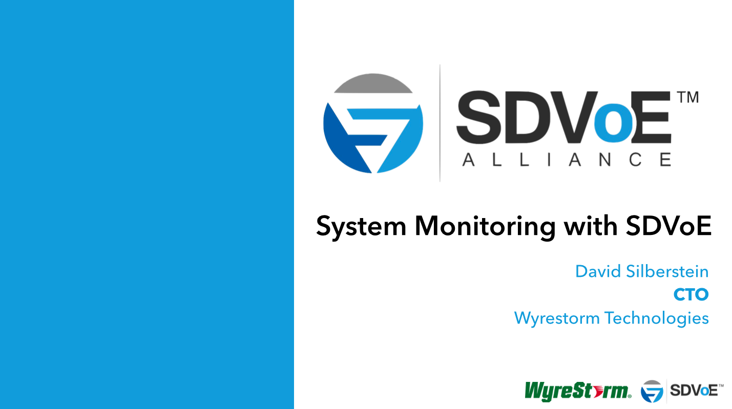 System Monitoring with SDVoE