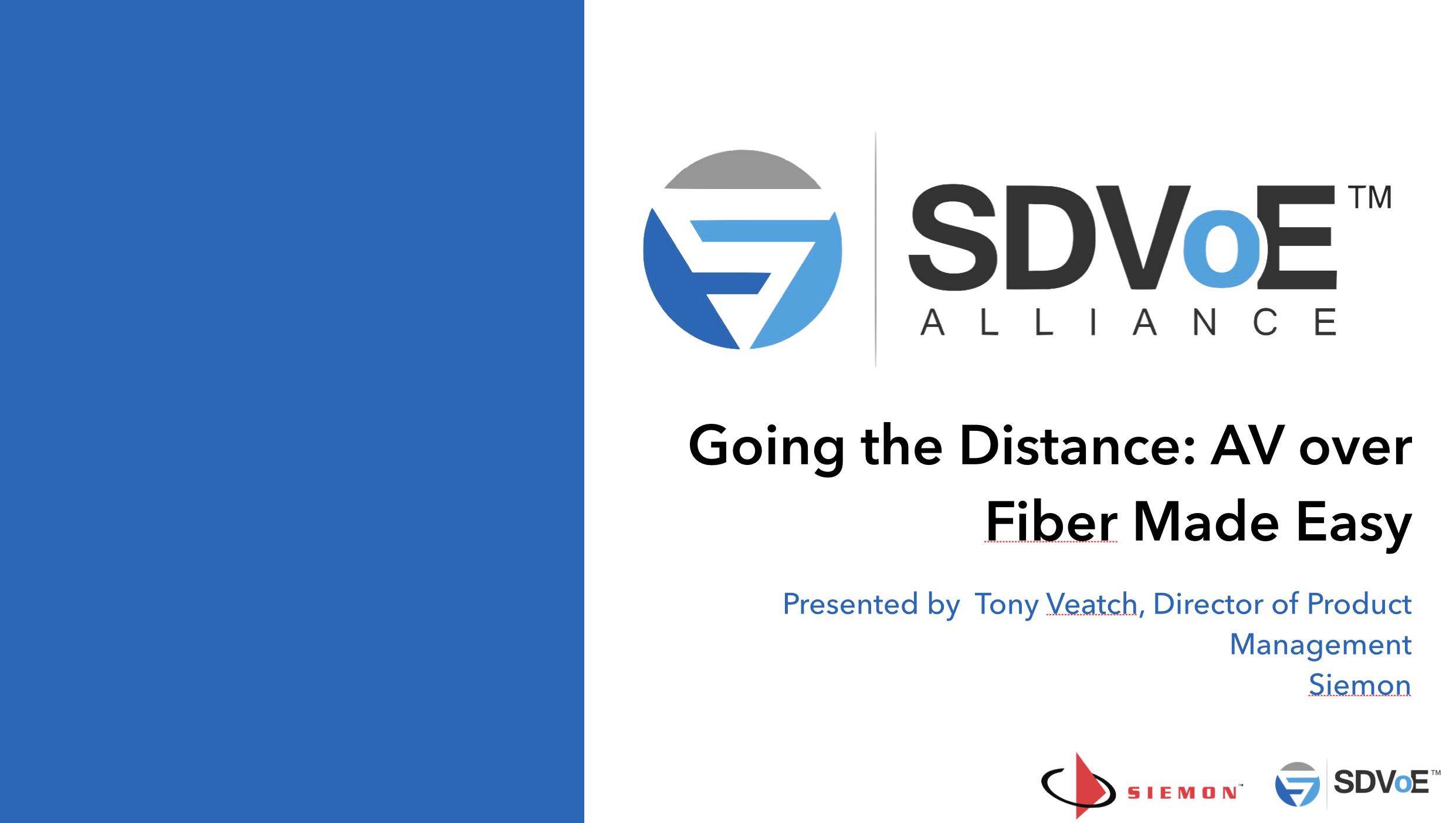 Going The Distance - AV Over Fiber Made Easy