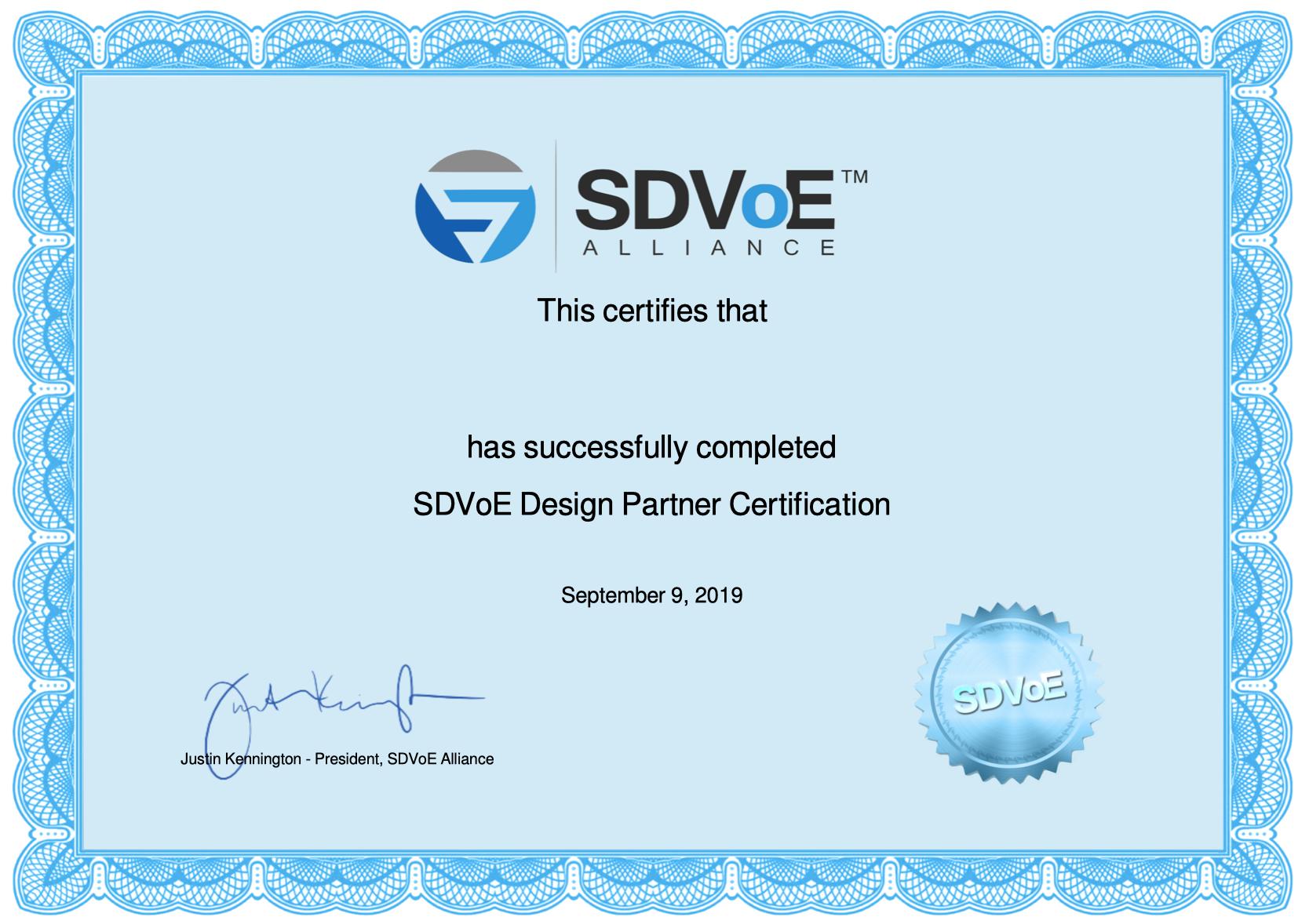SDVoE Design Partner Certification China